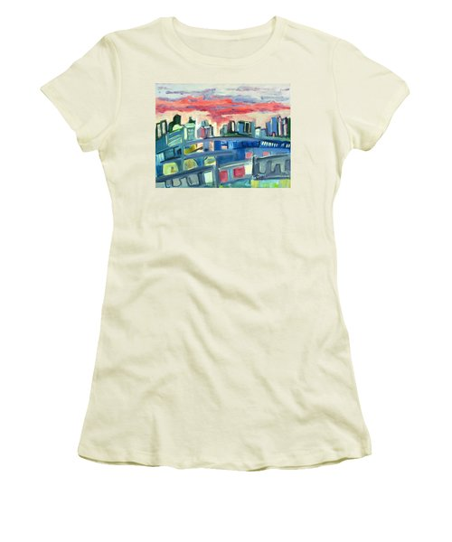 Home To The Softer Side Of City Women's T-Shirt (Athletic Fit)