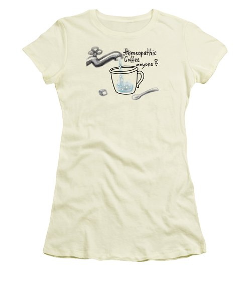 Homeopathic Coffee Women's T-Shirt (Athletic Fit)
