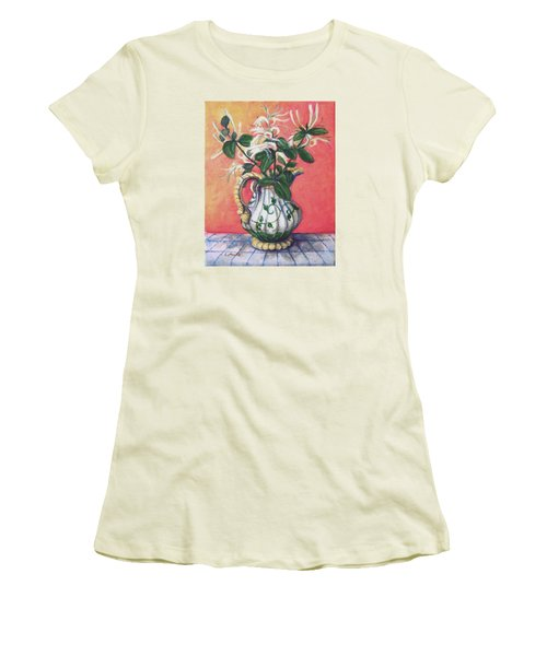 Honeysuckle Women's T-Shirt (Junior Cut) by Laura Aceto