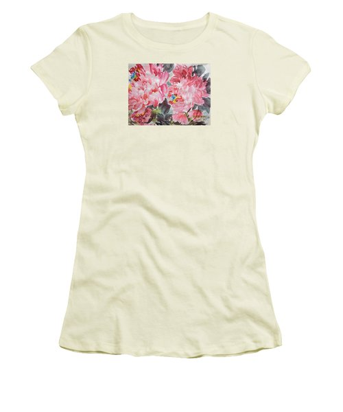 Women's T-Shirt (Junior Cut) featuring the painting Hop08012015-694 by Dongling Sun