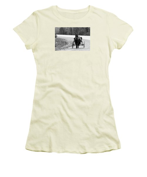 Horse And Buggy Women's T-Shirt (Junior Cut) by Marjorie Imbeau