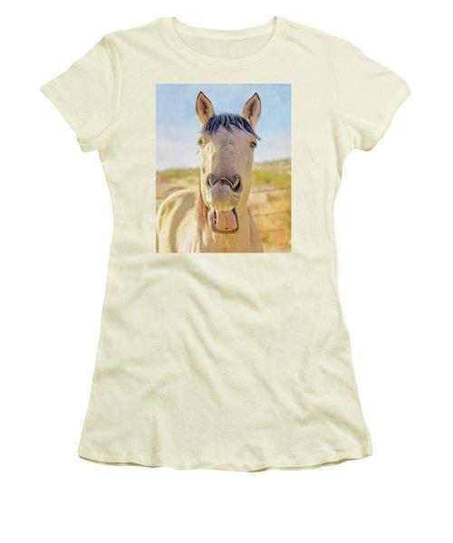 Horse Talk #2  Women's T-Shirt (Athletic Fit)