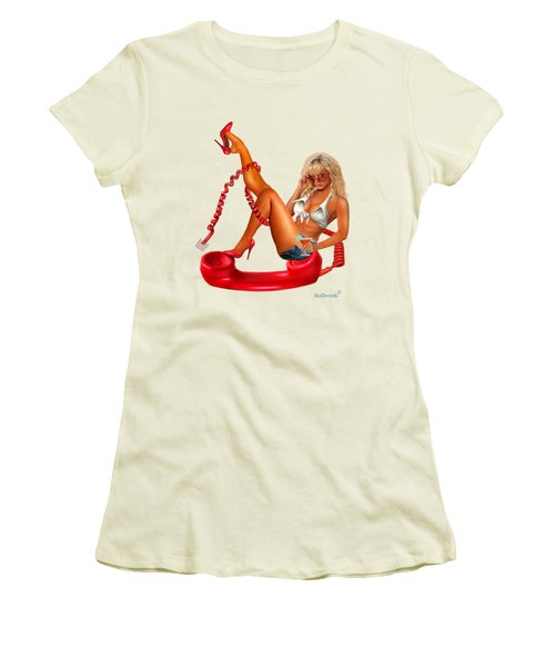 Hot Line Women's T-Shirt (Junior Cut) by Glenn Holbrook