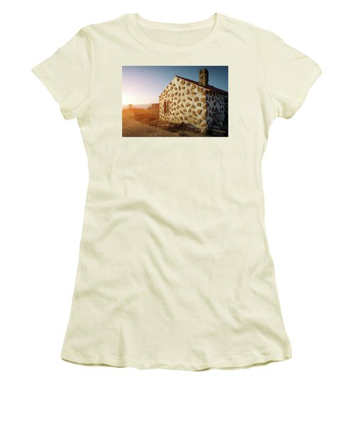 Women's T-Shirt (Junior Cut) featuring the photograph House On The Cliff by Carlos Caetano
