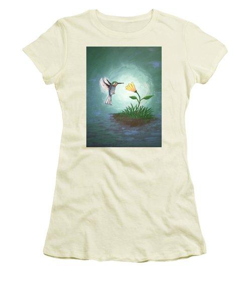 Hummingbird II Women's T-Shirt (Junior Cut) by Antonio Romero