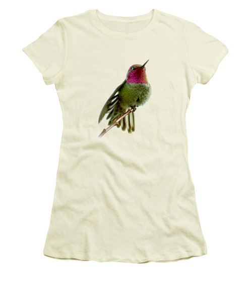 Hummingbird Portrait T1 Women's T-Shirt (Athletic Fit)