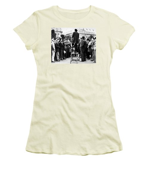 Women's T-Shirt (Athletic Fit) featuring the photograph Hyde Park, 1957 by Granger