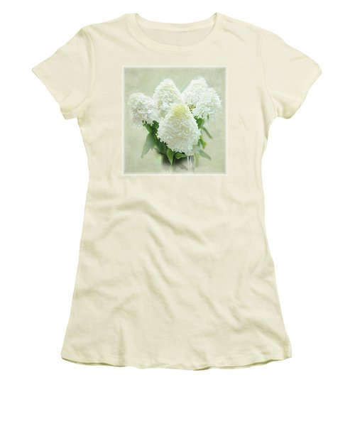Hydrangeas Women's T-Shirt (Junior Cut) by Geraldine Alexander
