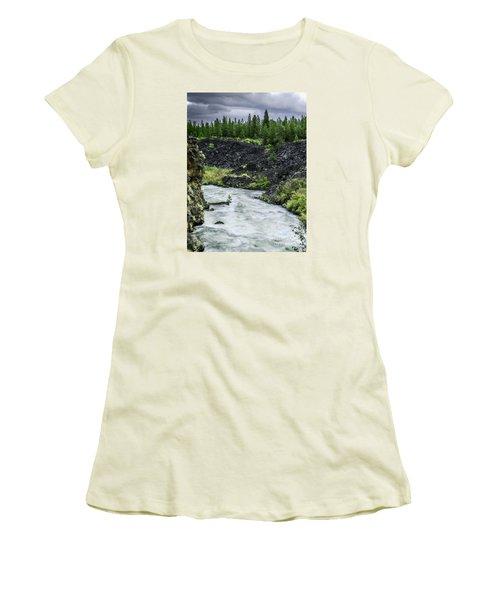 I Am River Hear Me Roar Women's T-Shirt (Junior Cut) by Nancy Marie Ricketts