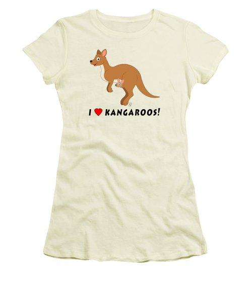 I Love Kangaroos Women's T-Shirt (Junior Cut) by A