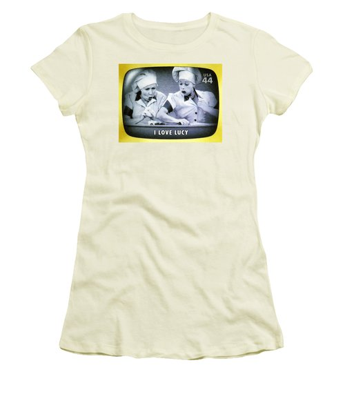 I Love Lucy Women's T-Shirt (Junior Cut) by Lanjee Chee