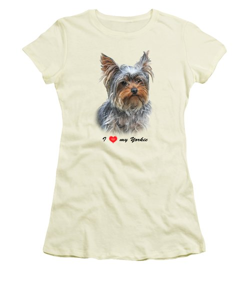 I Love My Yorkie 01 Women's T-Shirt (Athletic Fit)