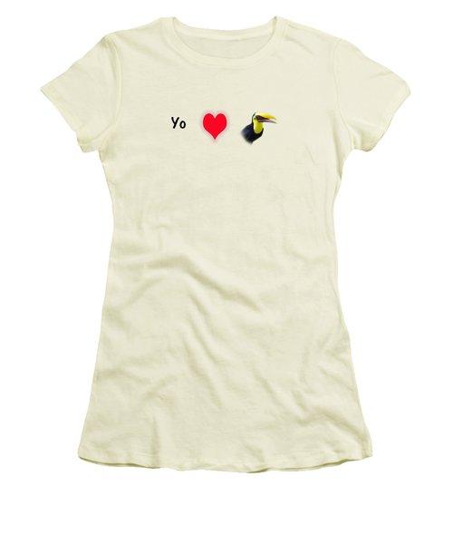 I Love Toucans Women's T-Shirt (Junior Cut) by Paul  Gerace