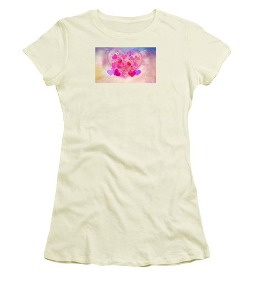 I Love You..happy Valentines Day Women's T-Shirt (Junior Cut) by Sherri's Of Palm Springs
