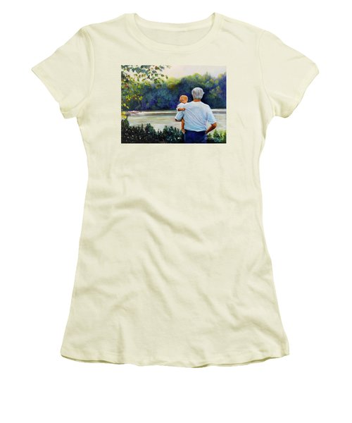 Ian And His Daddy One Sunday Afternoon Women's T-Shirt (Junior Cut) by Marlene Book