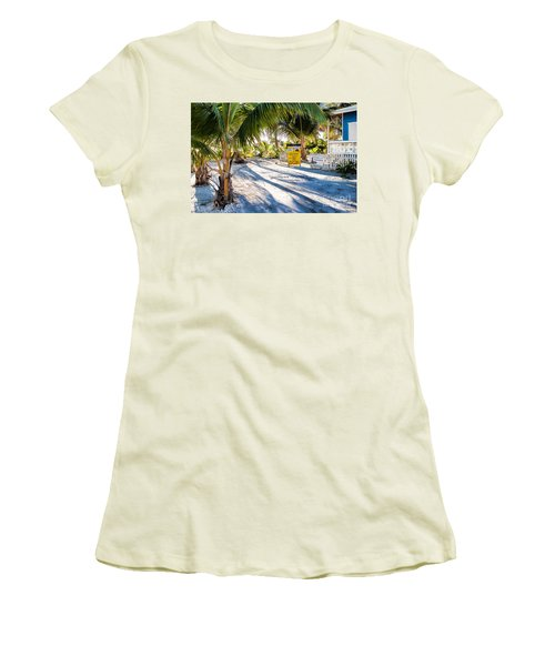 Women's T-Shirt (Junior Cut) featuring the photograph Ice Beans by Lawrence Burry