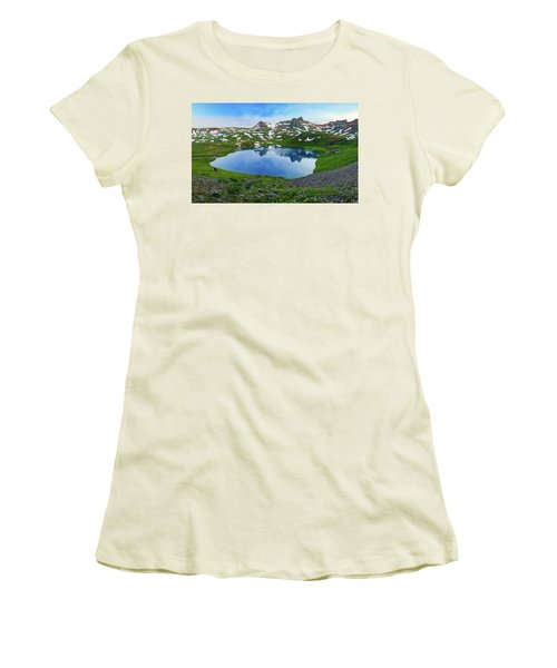 Ice Lake Panorama Women's T-Shirt (Athletic Fit)