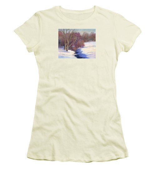 Icy Stream Women's T-Shirt (Athletic Fit)