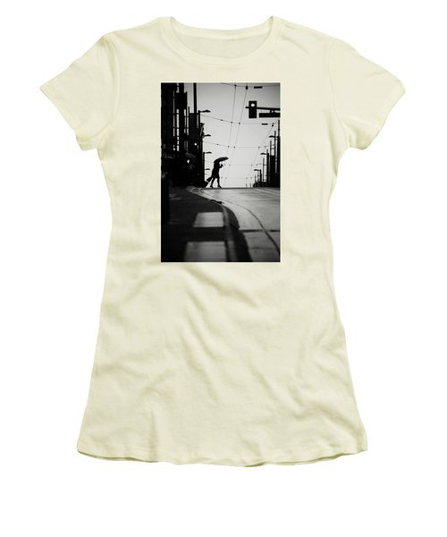 Im Leaving But Never  Women's T-Shirt (Junior Cut) by Empty Wall