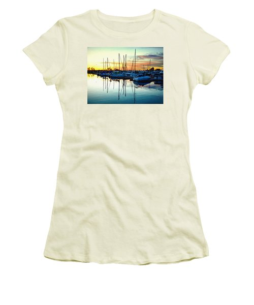 Impressions Of A San Diego Marina Women's T-Shirt (Athletic Fit)