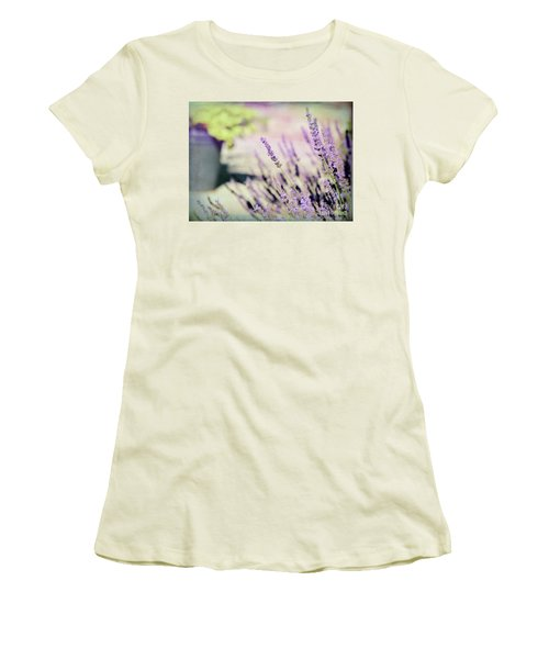 Women's T-Shirt (Athletic Fit) featuring the photograph In Love With Lavender by Kerri Farley