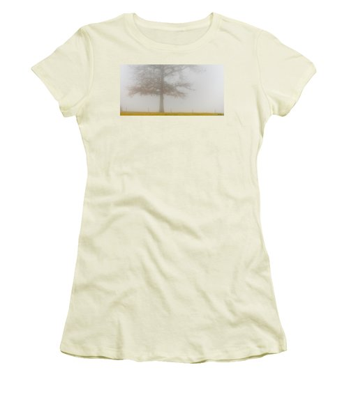 In Retrospect Women's T-Shirt (Junior Cut) by Skip Tribby