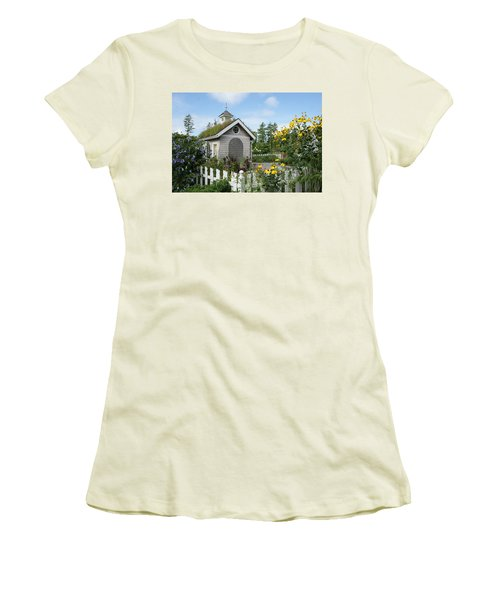 In The Garden Women's T-Shirt (Junior Cut) by Lois Lepisto