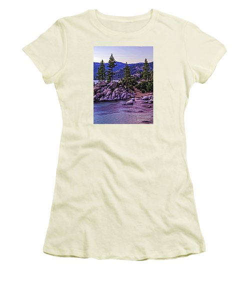 Women's T-Shirt (Junior Cut) featuring the photograph In The Still Of Dusk by Nancy Marie Ricketts