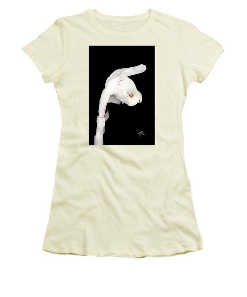 Women's T-Shirt (Junior Cut) featuring the photograph Indian Pipe Head by Meta Gatschenberger
