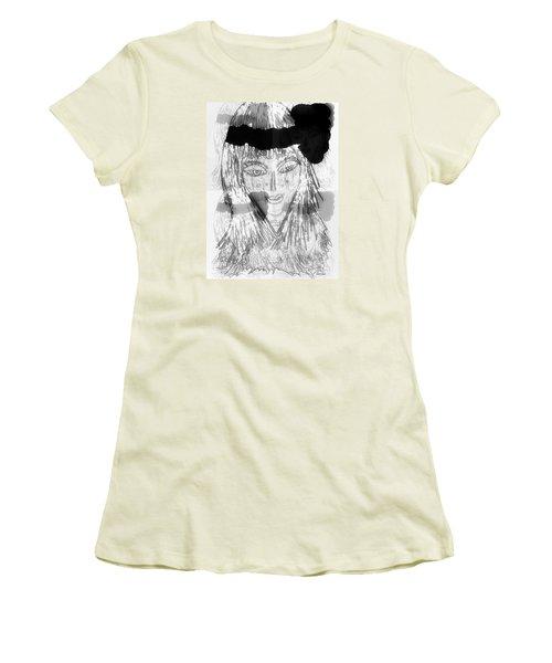 Indian Women's T-Shirt (Junior Cut) by Ann Calvo
