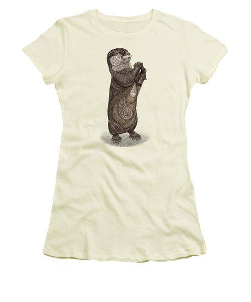 Infatuated Otter Women's T-Shirt (Junior Cut) by ZH Field