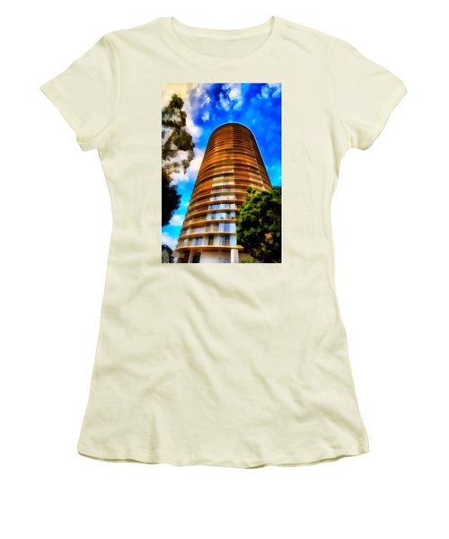 Women's T-Shirt (Junior Cut) featuring the photograph International Tower  by Joseph Hollingsworth