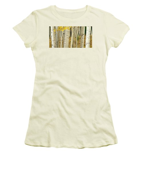 Women's T-Shirt (Athletic Fit) featuring the photograph Into The Forest by Gary Lengyel