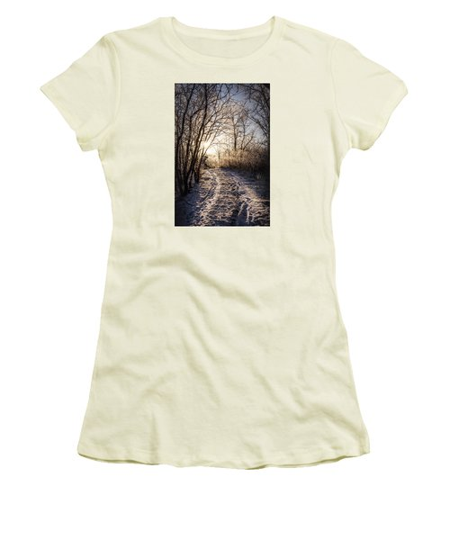 Women's T-Shirt (Junior Cut) featuring the photograph Into The Light by Annette Berglund