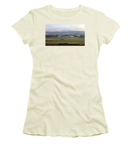 Irish Sheep Farm II Women's T-Shirt (Junior Cut) by Henri Irizarri
