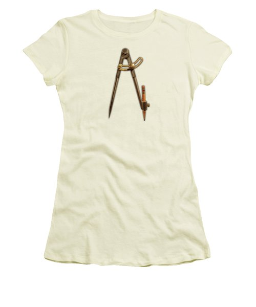 Women's T-Shirt (Junior Cut) featuring the photograph Iron Compass Pattern by YoPedro