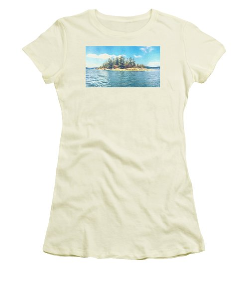 Island In The Sound Women's T-Shirt (Junior Cut) by William Wyckoff