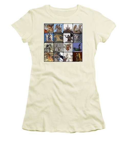 Italian Angels Women's T-Shirt (Junior Cut) by Tim Mattox