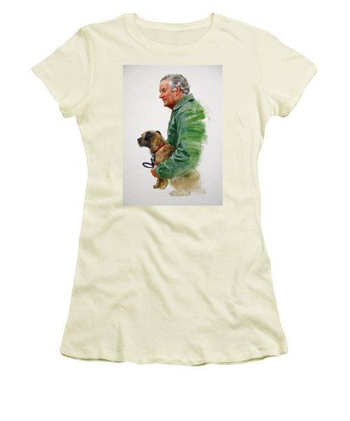 James Herriot And Bodie Women's T-Shirt (Junior Cut) by Cliff Spohn