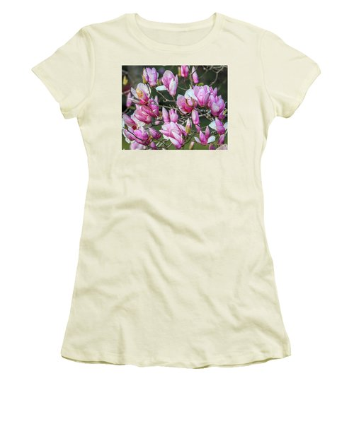 Women's T-Shirt (Junior Cut) featuring the photograph Japanese Blooms by Gregory Daley  PPSA