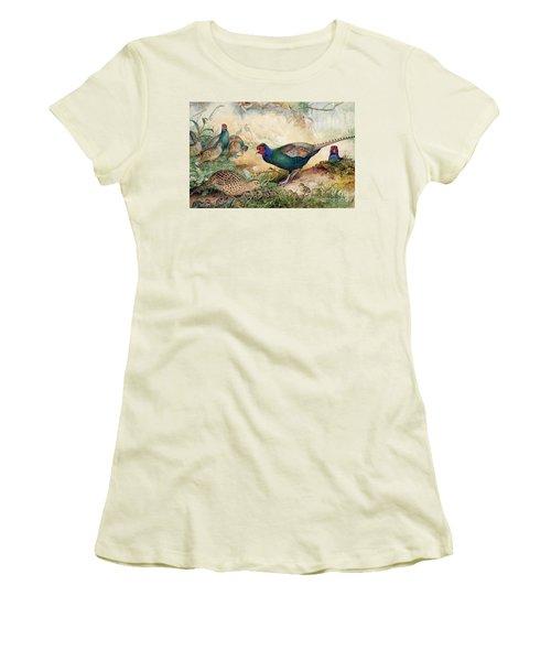 Japanese Pheasants Women's T-Shirt (Athletic Fit)