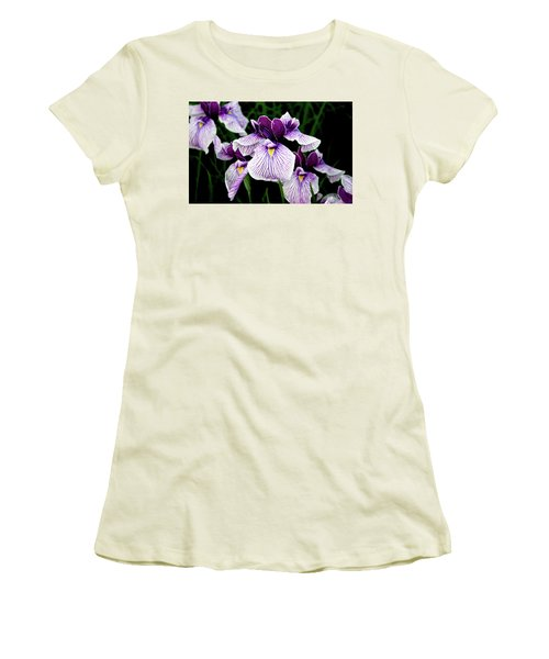 Japanese Water Iris In Purple 2714 H_2 Women's T-Shirt (Athletic Fit)