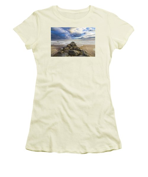 Jetty Four Cloudscape Women's T-Shirt (Athletic Fit)