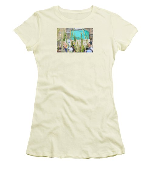 Jewish Sunrise Prayers At The Western Wall, Israel 13 Women's T-Shirt (Athletic Fit)