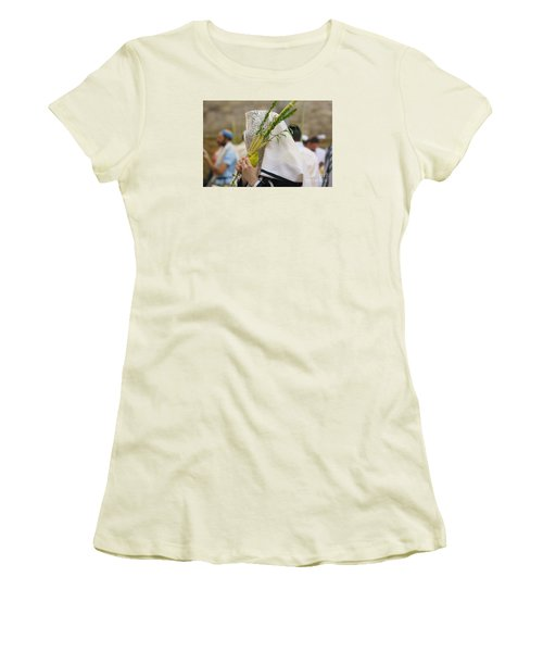 Jewish Sunrise Prayers At The Western Wall, Israel 5 Women's T-Shirt (Athletic Fit)