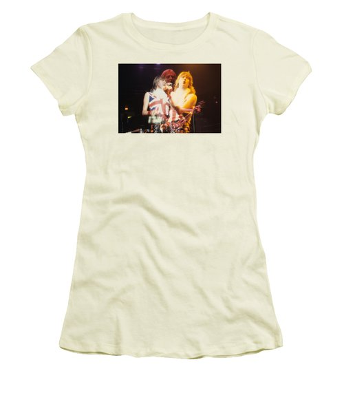 Joe And Phil Of Def Leppard Women's T-Shirt (Junior Cut) by Rich Fuscia