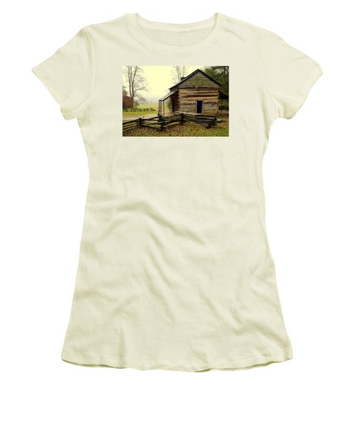John Olivers Cabin Women's T-Shirt (Athletic Fit)