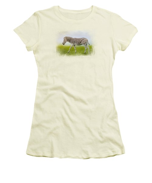Journey Of The Zebra Women's T-Shirt (Junior Cut) by Jai Johnson