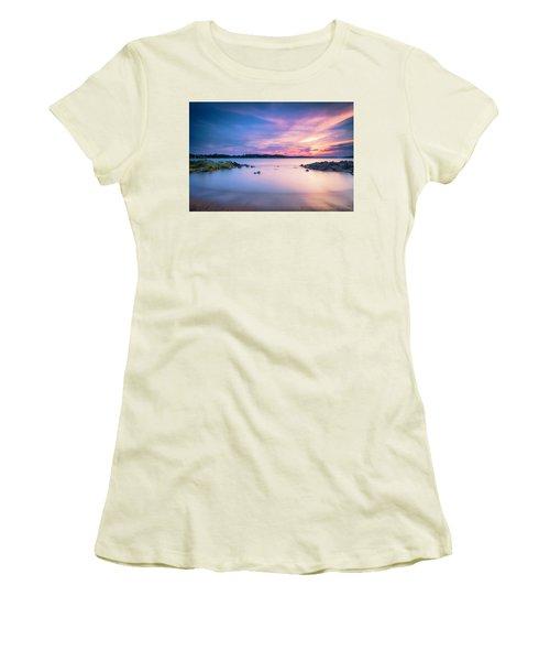 June Sunset On The River Women's T-Shirt (Junior Cut) by Edward Kreis