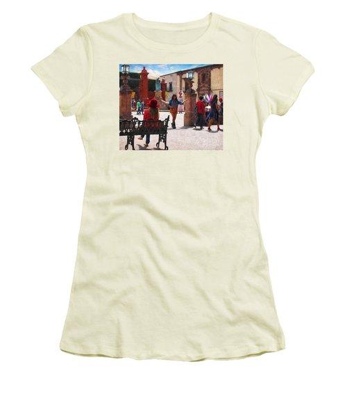 Women's T-Shirt (Junior Cut) featuring the photograph Just Before The Wedding by John Kolenberg